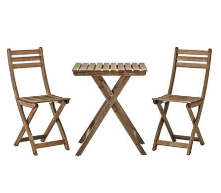 イケア IKEA ASKHOLMEN アスクホルメンテーブル&チェア2脚 屋外用, グレー グレーブラウンステイン, ブラウン 099.300.60【メール便不可】