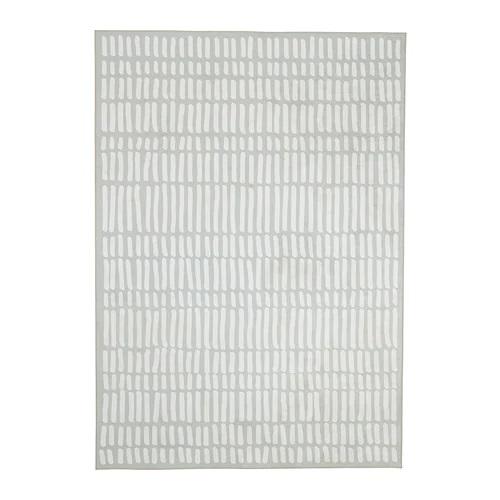 IKEA イケア OMTANKSAM オムテンクサムラグ 平織り, ライトグレー, ホワイト(804.249.72)