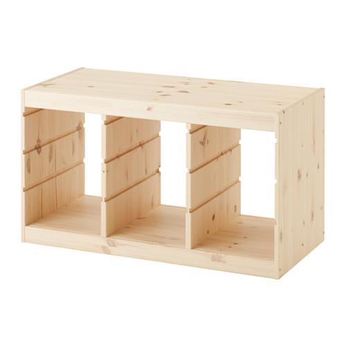 IKEA TROFAST イケア トロファスト フレーム ライトホワイト ステインパイン パイン材 003.086.98 303.688.36 おもちゃ箱