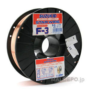 軟鋼用ソリッドワイヤー 0.8φx5.0kg PF-72 SUZUKID(スター電器) 【個人宅配送別途お見積り】