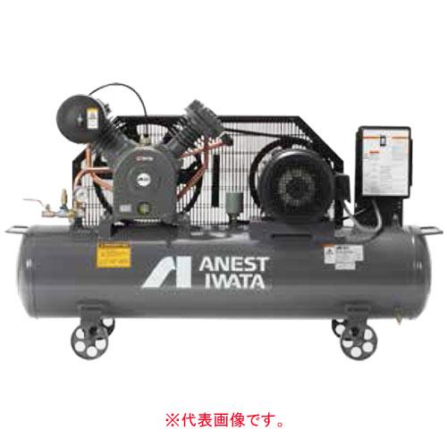エアーコンプレッサー レシプロオイル式 タンクマウント型 三相200V TLP37EF-10 M6(60Hz) アネスト岩田