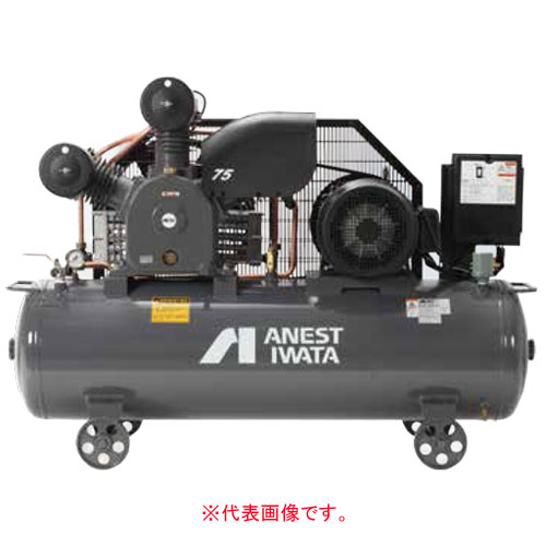 エアーコンプレッサー レシプロオイル式 タンクマウント型 三相200V TLP110EF-10 M6(60Hz) アネスト岩田