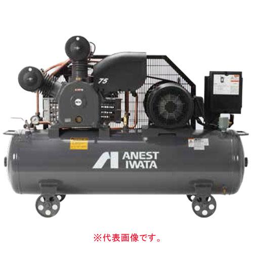 エアーコンプレッサー レシプロオイル式 タンクマウント型 三相200V TLP110EF-14 M6(60Hz) アネスト岩田