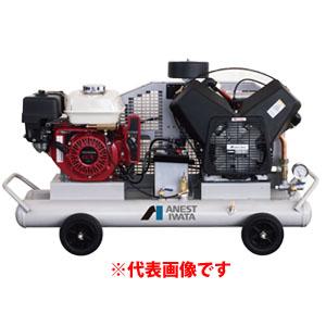 オイル式軽便タイプ 双胴型ガソリンエンジン付コンプレッサー PLUE15C-10 アネスト岩田