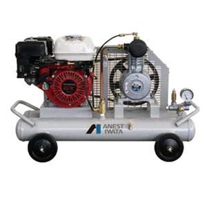 軽便タイプ 双胴型ガソリンエンジン付コンプレッサー コング PFUE07C-10 アネスト岩田
