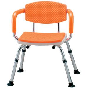 シャワーベンチ すま~いる 手すり付き 家庭用タイプ オレンジ N-FCM-D イーストアイ 座面幅39