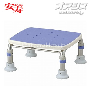 安寿 ステンレス製浴槽台R あしぴた ミニ15-20 ブルー 536-465 アロン化成 高さ15-20cm