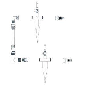 サイドかん水 基本キット間口5.4m以下用 SUMP2K-S サンホープ ライザー無