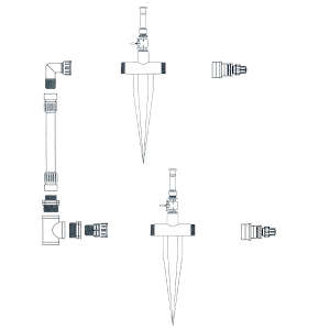 サイドかん水 基本キット間口5.4m以下用 SUMP3K-S サンホープ ライザー無