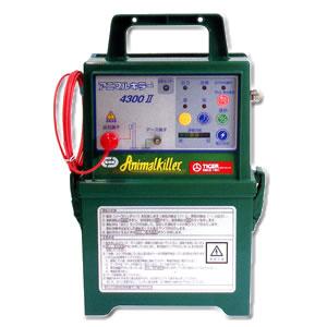 防雨型 電気牧柵器 アニマルキラー TAK-4300DC2 タイガー(TIGER) 12V電池タイプ【在庫処分】