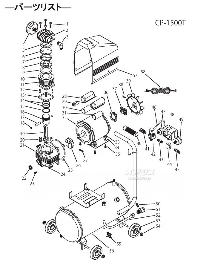 空气压缩机25L CP-1500T