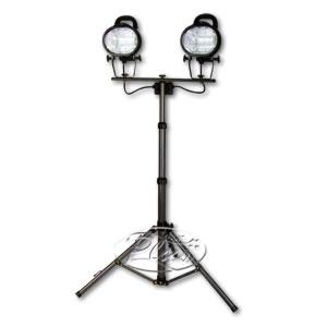 ハロゲンワークランプ(投光器) 500W2灯式 伸縮三脚スタンド付き CTW-502 EXCELLENT KOBO