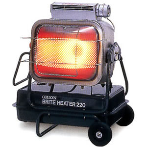 ジェットヒーター BRITE 赤外線暖房機 HR220A オリオン機械(株)