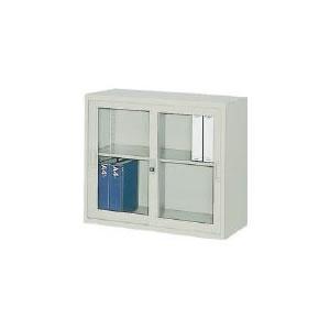 ガラス引違書庫880×515×750 トラスコ(TRUSCO)