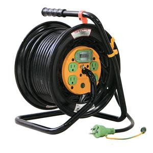 100V特殊機能リール マジックリール(アース漏電しゃ断器付) Z-EB34 日動工業