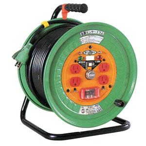 100V特殊機能リール 金属センサー 電工ドラムタイプ KS-EK34 日動工業