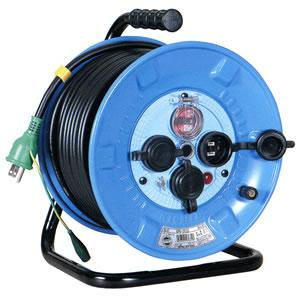 100V一般型電工ドラム 防雨・防塵型ドラム(アース過負荷漏電しゃ断器) NPW-EK33 日動工業