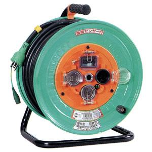 100V一般型電工ドラム 防雨・防塵型ドラム(アース漏電しゃ断器付) NW-EB33 日動工業