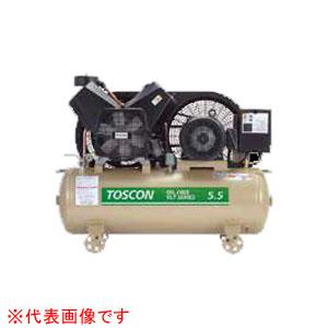 無給油式 エアーコンプレッサー(圧力開閉器式) VLT106-55T TOSHIBA(東芝) 60Hz