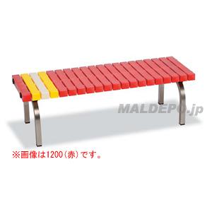 ステンレスホームベンチ1200(赤) BC-302-312-2 テラモト
