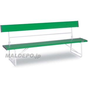背付ベンチ1800(緑) BC-300-018-1 テラモト