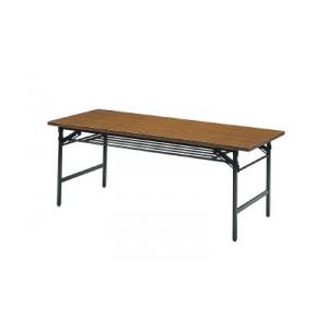 折りたたみ会議用テーブル棚付1500×450×700チ 1545(1500X450)(チーク) トラスコ(TRUSCO)