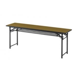 会議テーブル下棚付1800×450×700チーク TCT-1845T(チーク) トラスコ(TRUSCO)