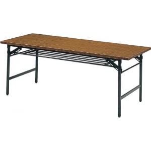 折りたたみ会議用テーブル棚付1800×750×700チ 1875(1800X750)(チーク) トラスコ(TRUSCO)