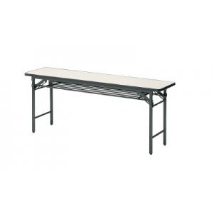 会議用テーブル棚付折り畳み式1800×600×700ア TS-1860IV(アイボリー)(ソフトエッジマキ) トラスコ(TRUSCO)
