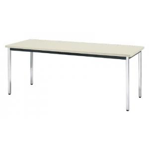 会議用テーブル 棚無角脚 1500×750×700 ネオグレ TDS-1575NG(ネオグレー)(ソフトエッジマキ) トラスコ(TRUSCO)