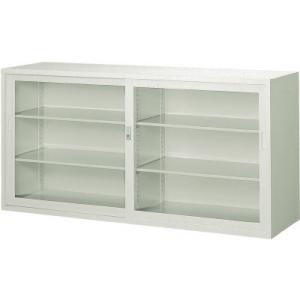 ガラス引違書庫1760×515×880 N306GW(ネオグレー) トラスコ(TRUSCO)