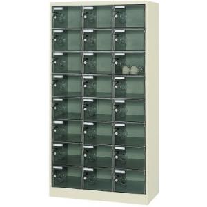 ボックス透明扉付24人用900×380×1700 SC-24PC(24ニンヨウ) トラスコ(TRUSCO)