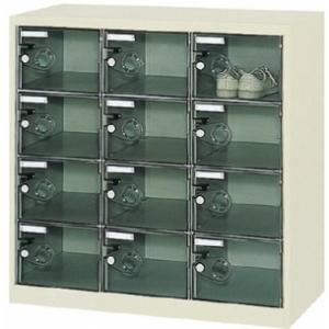 ボックス透明扉付12人用900×380×880 SC-12PC(12ニンヨウ) トラスコ(TRUSCO)