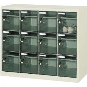 ボックス透明扉付12人用1050×380×880 SC-12WPC(トウメイ タナイタツキ) トラスコ(TRUSCO)