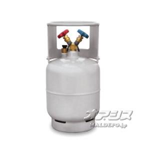 フロン回収用ボンベ(フロートセンサー内臓)12L 1/4フレア TF056 アサダ