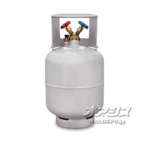フロン回収用ボンベ(フロートセンサー内臓)24L 1/4フレア TF057 アサダ