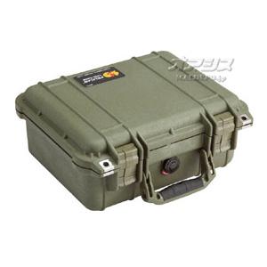 スモールケース(ミリタリーケース・プロテクターケース) 339×295×152mm オリーブドラブ 1400OD PELICAN PRODUCTS