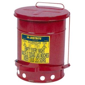 防火・耐火ゴミ箱 オイリーウエスト缶 J09100 ジャストライト マニュファクチュアリング カンパニー LLC 302×403mm
