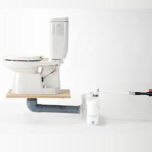 ポンプ圧送式簡易水洗便器 どこでもトイレ 手洗い無し/普通便座 FS502タイプ DKB5-N07 ダイワ化成