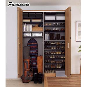 クロークボックス 玄関用収納 レジャースポーツ+靴収納プラン 幅1600mm ミラー付き Panasonic