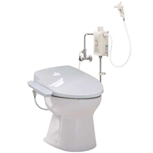タンクレス簡易水洗便器 ニューレット 温水洗浄便座 フラッシュバルブ式 AF50BNLI+DLNC130LI アサヒ衛陶 ラブリーアイボリー