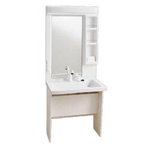 車椅子対応 洗面化粧台 キャビネット仕様 Janis(ジャニス工業) 1面鏡 シャワー水栓【受注生産品】