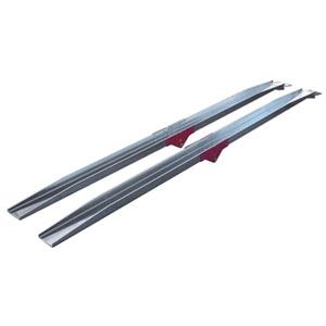 アルミ積荷レール 折り畳み式 全長2m 2本セット 100W×4t フルテック 幅10cm 耐荷重80kg アルミブリッジ