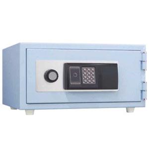 家庭用金庫 耐火金庫 ICカード錠タイプ スカイブルー CPS-30IC 日本アイエスケイ 幅437mm おしゃれ金庫