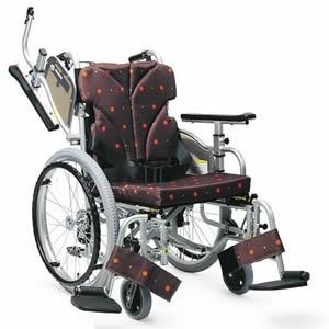 簡易モジュール 低床型スイングアウト 自走介助兼用車椅子KZ20-40(38・42) カワムラサイクル