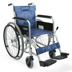 病院施設向け スチール製 自走式車椅子 KR801Nソリッド(ノーパンクタイヤ) カワムラサイクル