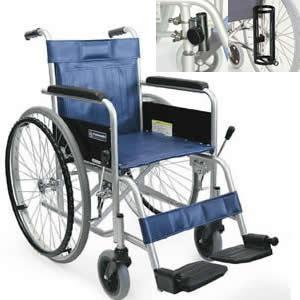 病院施設向け スチール製 自走式車椅子 KR801Nソリッド-VS(バリューセット/ソリッドタイヤ) カワムラサイクル