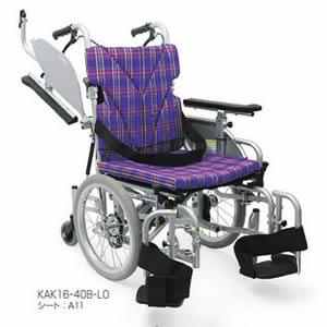 室内用六輪車いす 低床こまわりくん KAK16-40B-LO カワムラサイクル