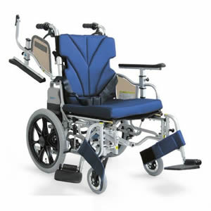 AWシリーズ 介助者用電動ユニット装着車椅子 KZ16-40(38・42)-LO-ABF2/AW カワムラサイクル 【受注生産品】