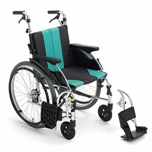 アップライトシリーズ UR-3 押し手高調整機能付 自走介助兼用車椅子 ミキ【受注生産品】